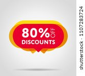 special offer sale red tag... | Shutterstock .eps vector #1107283724