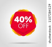 special offer sale red tag... | Shutterstock .eps vector #1107284129