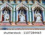 statues facade duomo cathedral... | Shutterstock . vector #1107284465