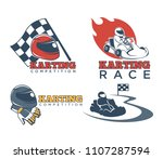 karting races or kart club... | Shutterstock .eps vector #1107287594