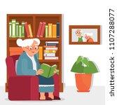 vector illustration old woman... | Shutterstock .eps vector #1107288077
