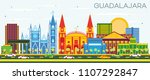 guadalajara mexico skyline with ... | Shutterstock . vector #1107292847