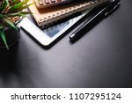 business concept with agenda ... | Shutterstock . vector #1107295124