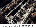 old car engine. distressed... | Shutterstock . vector #1107295517