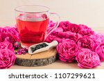Cup Of Roses Tea With Rose Buds ...