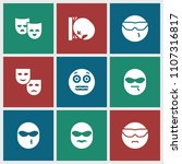 humor icon. collection of 9... | Shutterstock .eps vector #1107316817