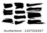 vector ink splashes or black... | Shutterstock .eps vector #1107326567