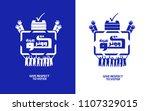 give respect to voter written... | Shutterstock .eps vector #1107329015