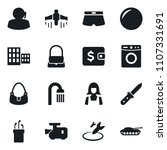 set of simple vector isolated... | Shutterstock .eps vector #1107331691