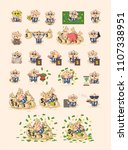 set kit collection vector... | Shutterstock .eps vector #1107338951