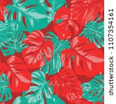 seamless tropical pattern with... | Shutterstock .eps vector #1107354161