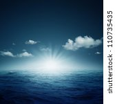 nightly ocean.  natural... | Shutterstock . vector #110735435