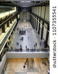 Small photo of LONDON, UNITED KINGDOM - MAY 12: Hall at Tate modern gallery on May 12, 2018 in London