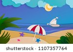 summer landscape created with... | Shutterstock .eps vector #1107357764