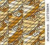 seamless hand drawn pattern... | Shutterstock .eps vector #1107358694