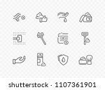 shave line icon set isolated on ... | Shutterstock .eps vector #1107361901