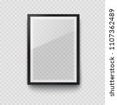 frame with black mat surface...   Shutterstock .eps vector #1107362489