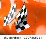 chequered flag on the side of... | Shutterstock . vector #1107365114