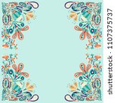 art style floral design... | Shutterstock .eps vector #1107375737