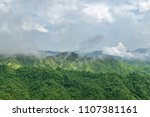 landscape on mountain with tree ... | Shutterstock . vector #1107381161