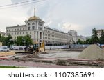 reconstruction of the central... | Shutterstock . vector #1107385691