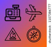 logistics vector icon set... | Shutterstock .eps vector #1107386777