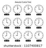 analog clock with circle shape  ... | Shutterstock .eps vector #1107400817