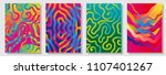 set of colorful painted... | Shutterstock .eps vector #1107401267