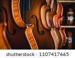 studio shooting violin | Shutterstock . vector #1107417665
