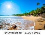untouched tropical beach in sri ... | Shutterstock . vector #110741981