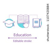 education concept icon. gaining ...   Shutterstock .eps vector #1107420884