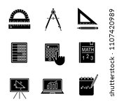 mathematics glyph icons set....   Shutterstock .eps vector #1107420989