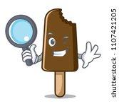 detective chocolate ice cream... | Shutterstock .eps vector #1107421205