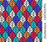 seamless abstract pattern with... | Shutterstock .eps vector #1107421991