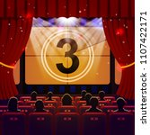 show time concept. cinema and... | Shutterstock .eps vector #1107422171