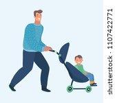 vector cartoon illustration of... | Shutterstock .eps vector #1107422771