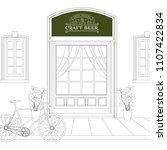 vintage style background. line... | Shutterstock .eps vector #1107422834