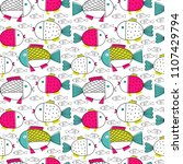seamless vector pattern with... | Shutterstock .eps vector #1107429794
