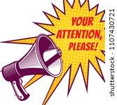 attention please vector symbols ...   Shutterstock .eps vector #1107430721
