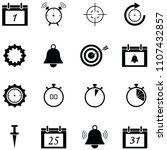 reminders icon set   Shutterstock .eps vector #1107432857