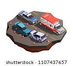 public city transport isometric ... | Shutterstock .eps vector #1107437657