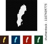 map of sweden   Shutterstock .eps vector #1107439775