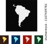 map of south america   Shutterstock .eps vector #1107439781