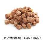 pet food on white background