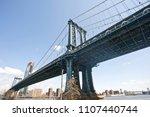 manhattan bridge view from... | Shutterstock . vector #1107440744