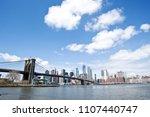 new york city skyline with... | Shutterstock . vector #1107440747