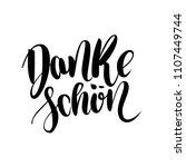 thank you. danke schoen. german ... | Shutterstock . vector #1107449744