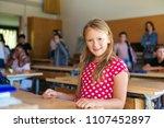 indoor portrait of a cute...   Shutterstock . vector #1107452897