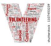 vector conceptual volunteering  ... | Shutterstock .eps vector #1107453239