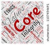 vector conceptual core values...   Shutterstock .eps vector #1107454691